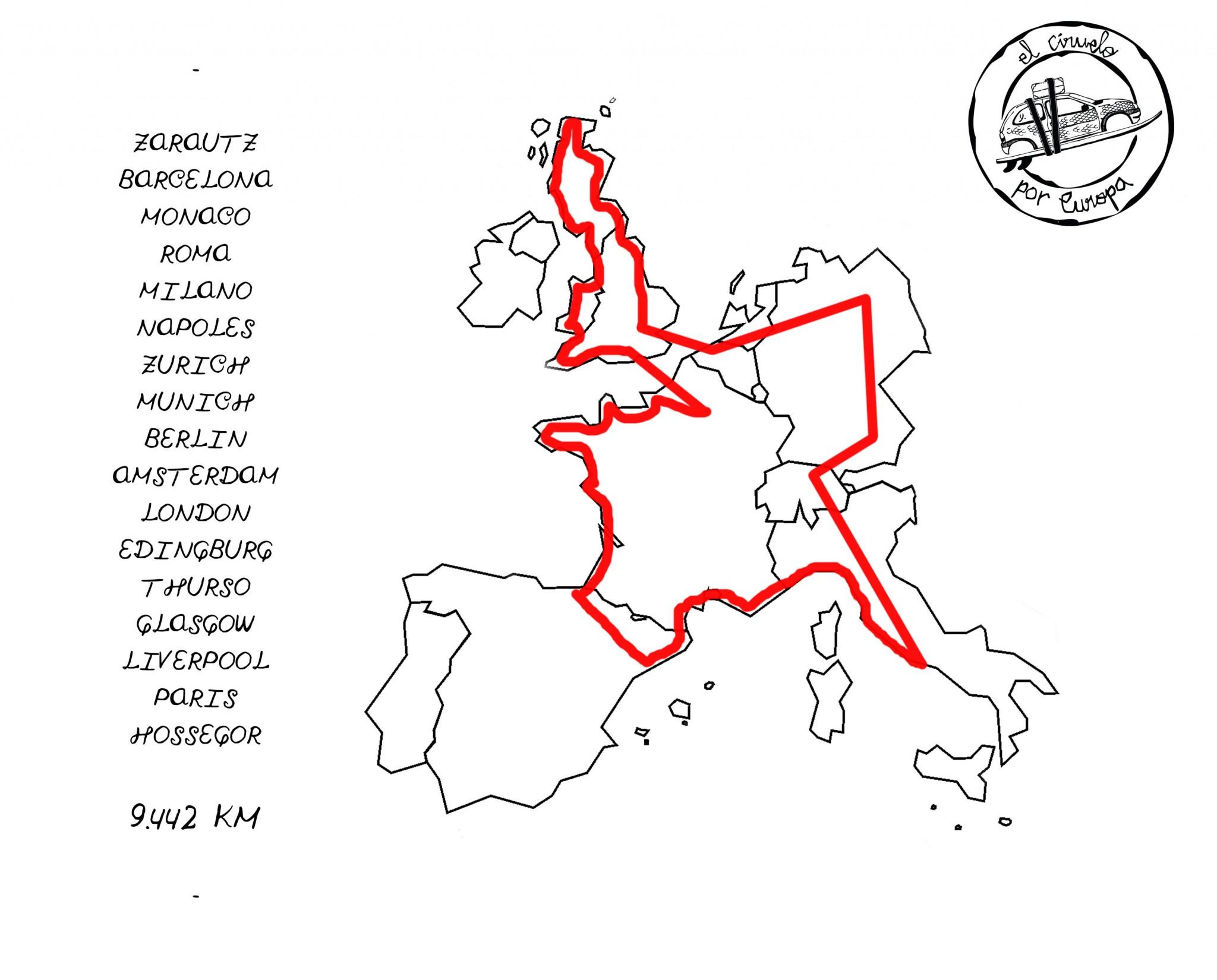 Mapa Europa DONE